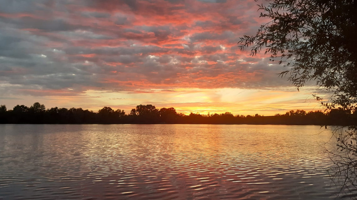 Sonnenuntergang am Heidesee